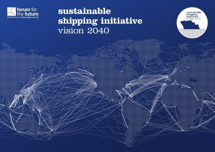 sustainableshipping initiativevision 2040