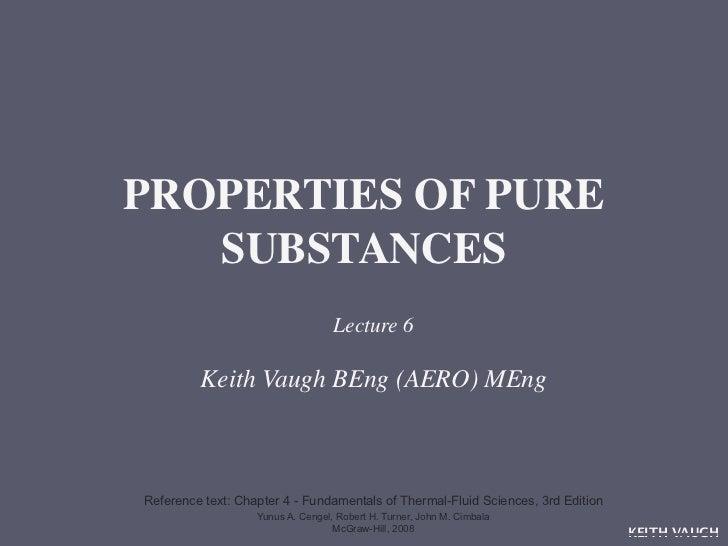 SSL6 Properties of Pure Substances