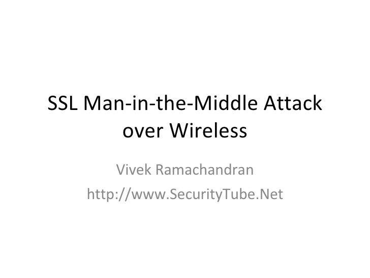 SSL MITM Attack Over Wireless