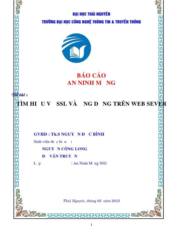 Cai Dat SSL tren WEB SERVER
