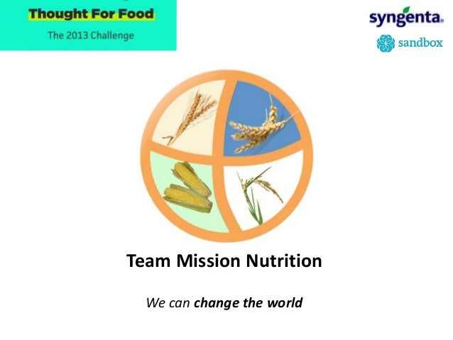 Team Mission NutritionWe can change the world