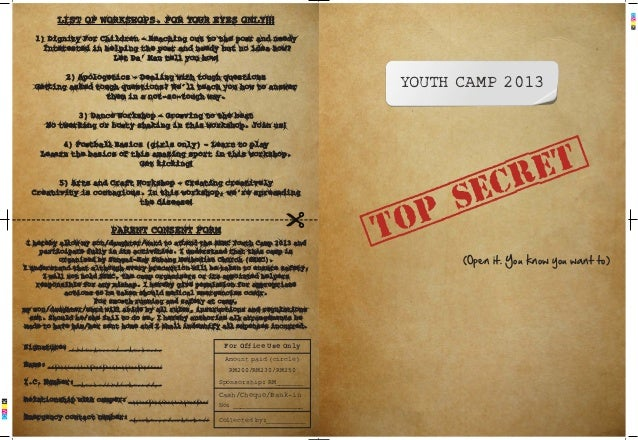 Ssmc youth camp2013 Registration form
