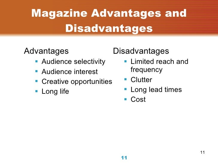 disadvantages of news paper Let's read about the advantages and disadvantages of print media to understand the difference so, be it newspapers or magazines, every medium has its particular advantages, a thing which should be considered to be of utmost importance by all advertisers and clients.