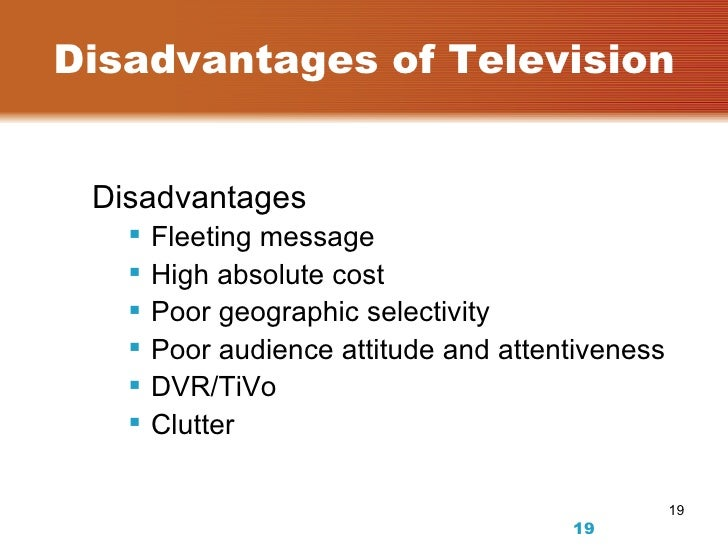 disadvantages of tv essay