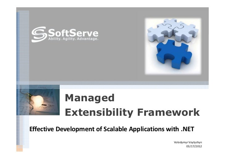 Managed            Extensibility FrameworkEffective Development of Scalable Applications with .NET                        ...