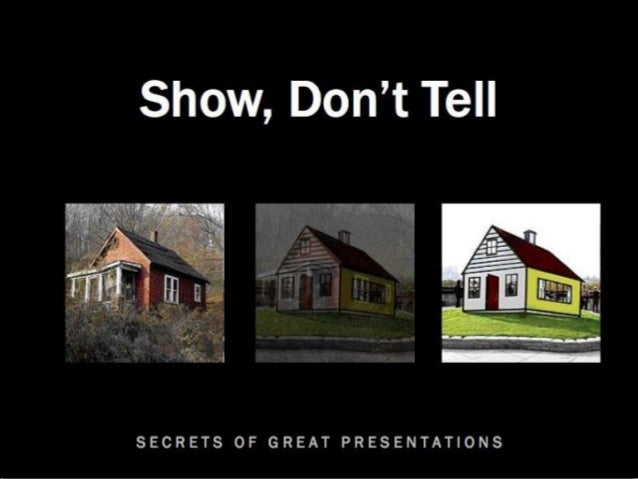 Secrets of Great Presentations #1: Show, Don't Tell