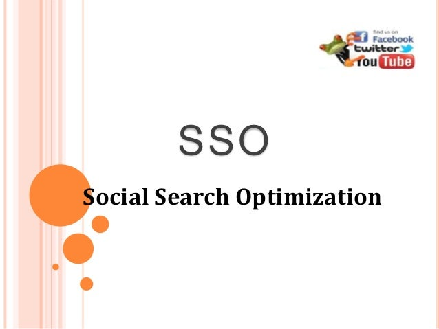 Social Search Optimization SSO