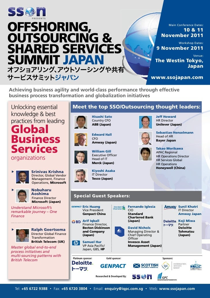 SSON Japan - Offshoring, Outsourcing & Shared Services