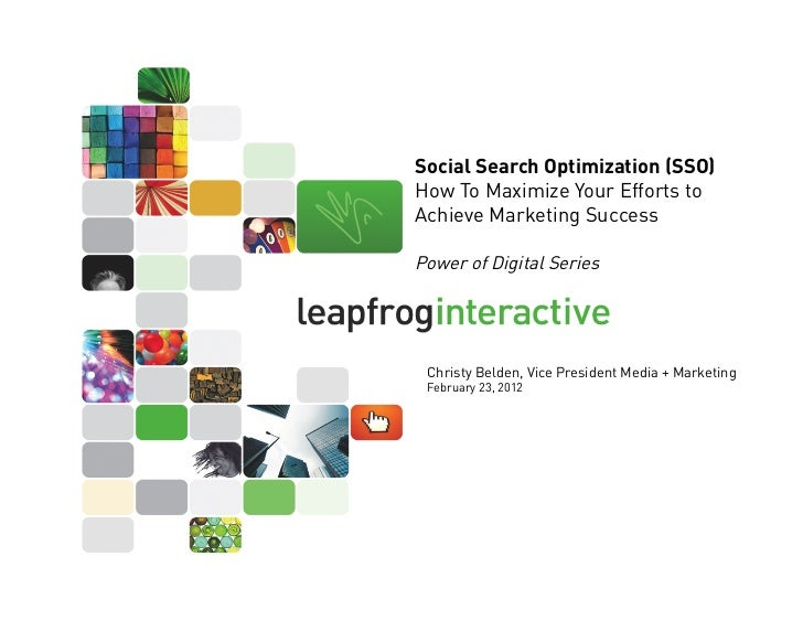 Social Search Optimization (SSO)