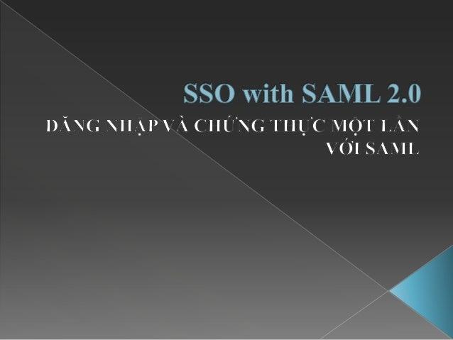 SSO with SAML 2.0