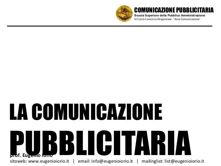 Comunicazione pubblicitaria nella P.A.
