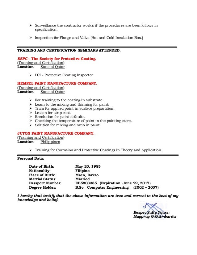 Document review resume resume critique checklist resume for Painting coating inspector jobs