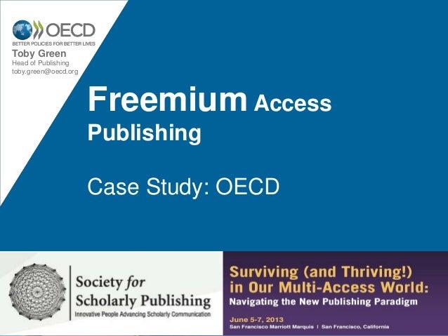 Freemium publishing - OECD case study. SSP 2013