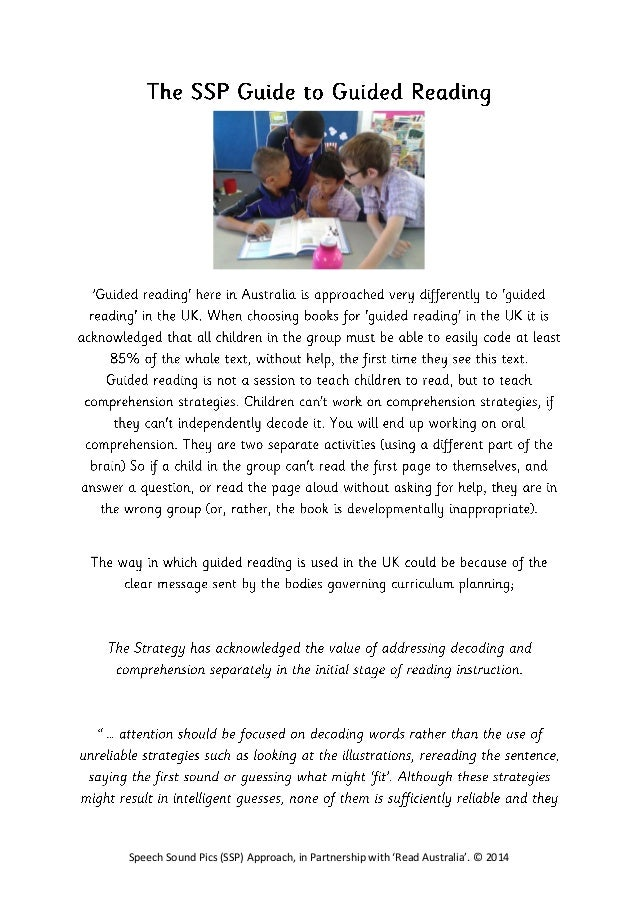 SSP Guided Reading Guide from Miss Emma