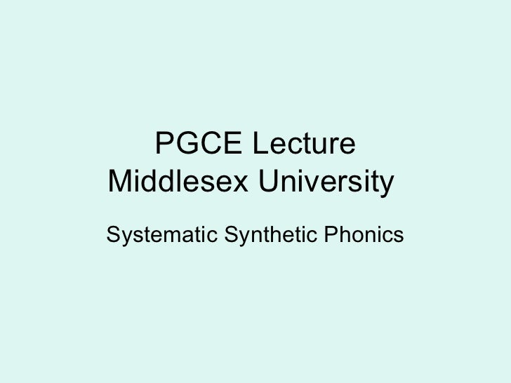 SSP lecture middlesex university 2011 wiki