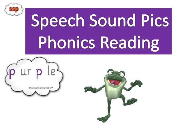 SSP Phonics Reader to check PURPLE Sound Pic Knowledge