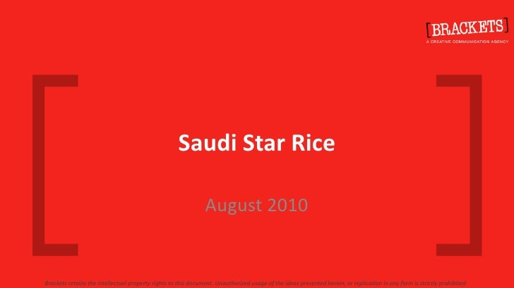 Saudi Star RiceBrackets @2010 All Rights Reserved                                                                         ...