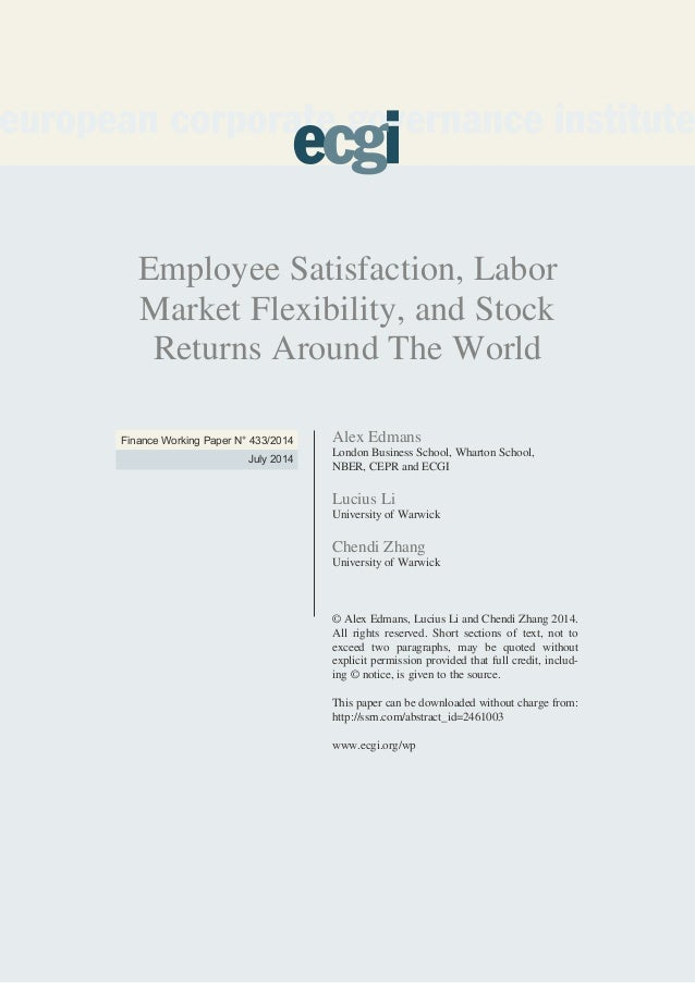 Employee Satisfaction, Labor Market Flexibility, and Stock Returns Around The World