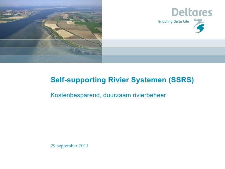 Self-supporting Rivier Systemen  (SSRS) Kostenbesparend, duurzaam rivierbeheer