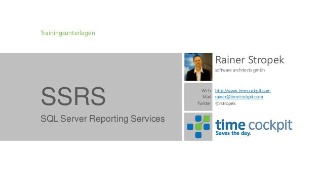 SQL Server Reporting Services Training