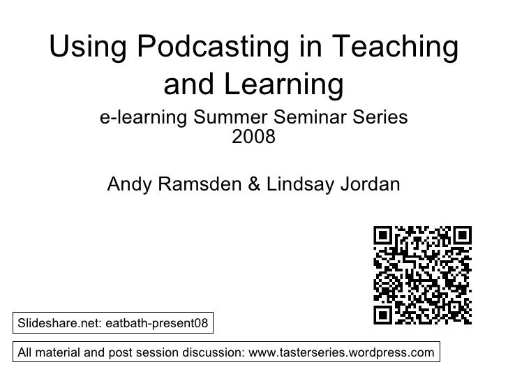 Using Podcasting in Teaching and Learning