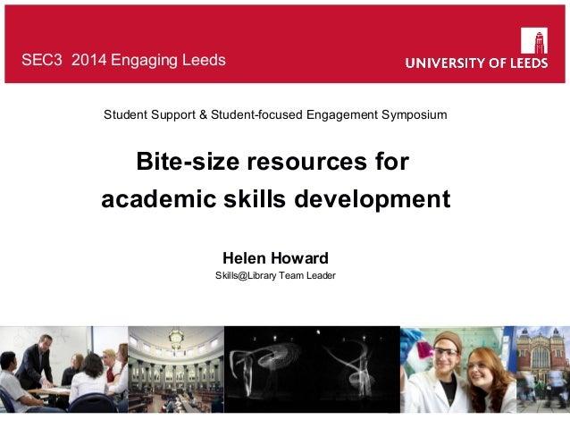 Bite-size resources for academic skills development