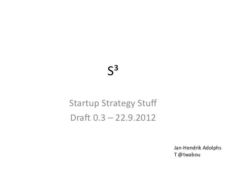 Startup Strategy Stuff
