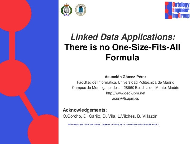 Linked DAta Applications: There is no One-Size-Fits All Formula (Long presentation)