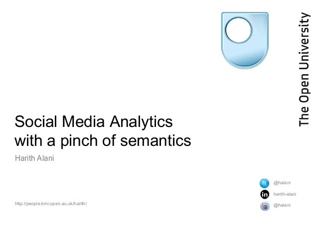Social Media Analytics with a pinch of semantics