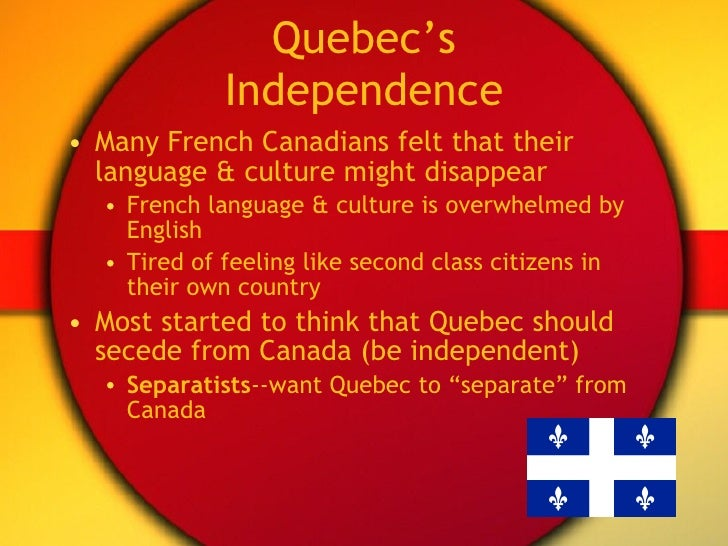 an analysis of separation of quebec to canada