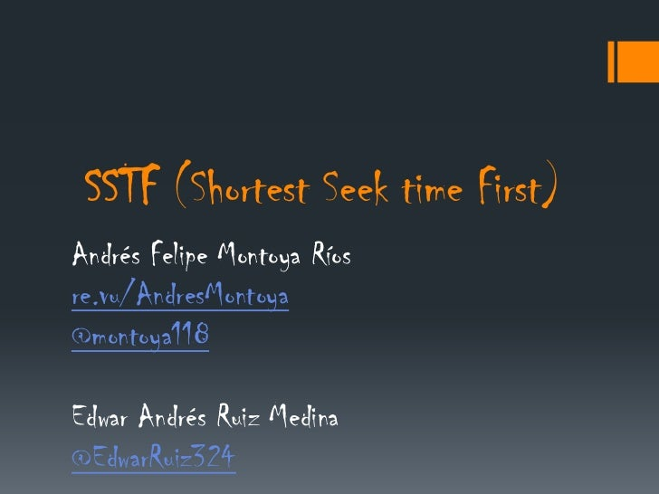 Planificador SSTF (shortest seek time first)