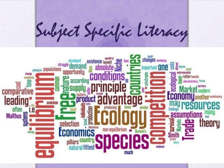 Subject Specific Literacy