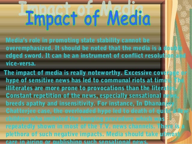 Writ an essay on :the role of media in current time (tv)?