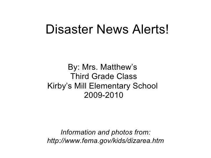 Disaster News Alerts!  Matthews
