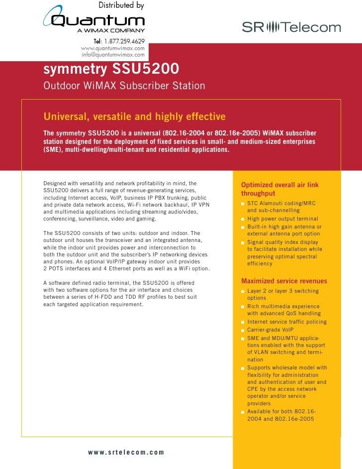 Symmetry SSU5200 CPE (quantumwimax.com)