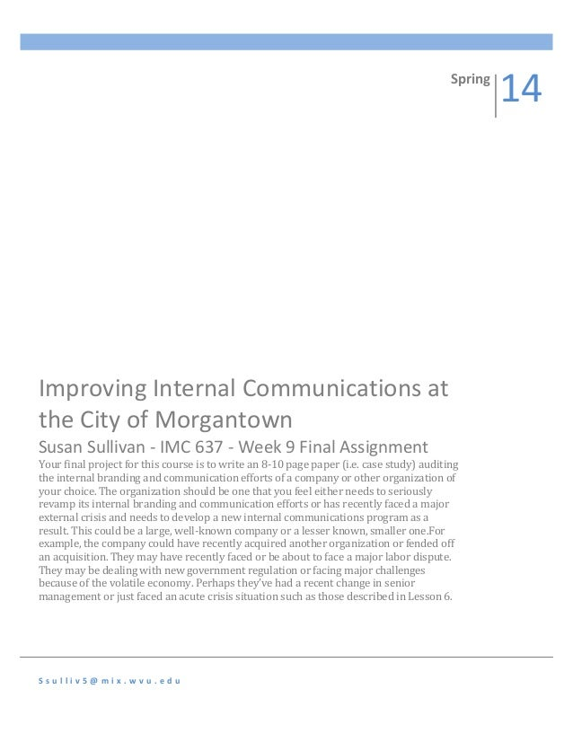 internal communication thesis The role of communication strategies in change management process: this thesis is submitted in partial the internal communication process surrounding the.
