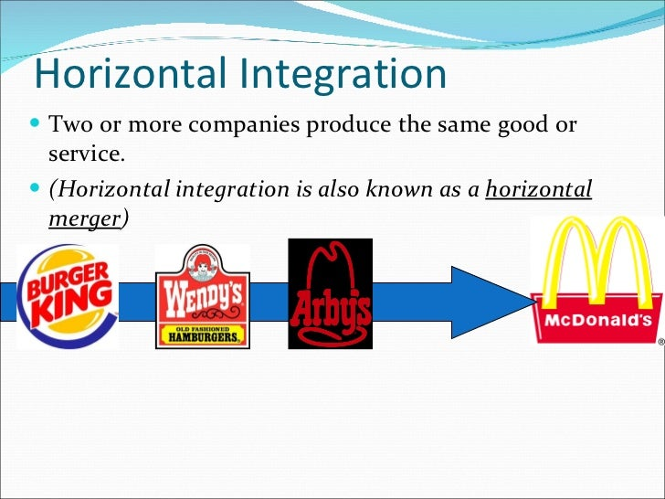 examples of horizontal and vertical integration