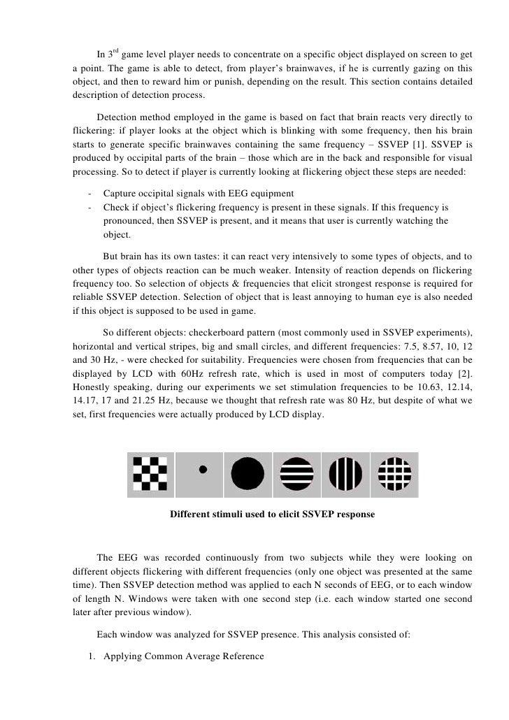 Brain-computer interface based on SSVEP