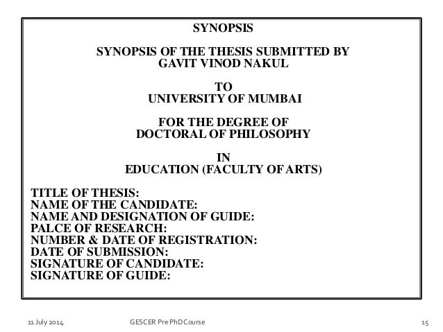 Title page sample thesis on education