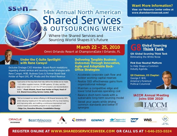 14th Annual Shared Services & Outsourcing Week
