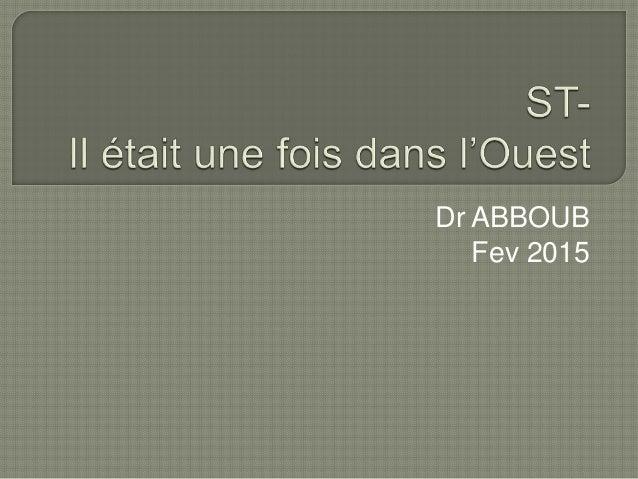 Dr ABBOUB Fev 2015