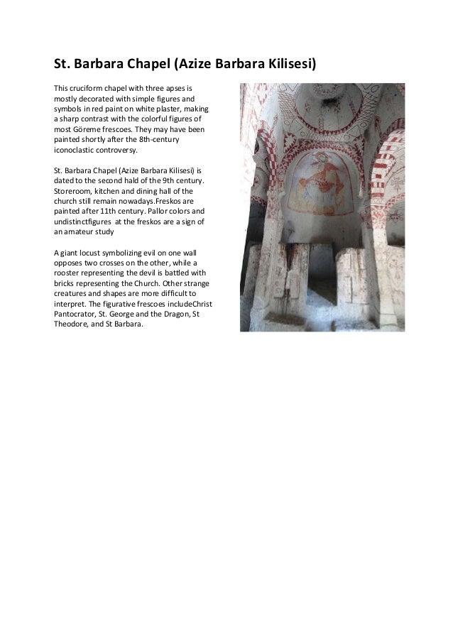 St. barbara chapel (azize barbara kilisesi)