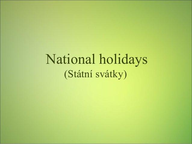 Státní svátky