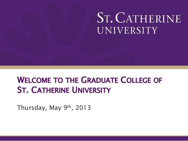 St. Catherine University Graduate School and MBA