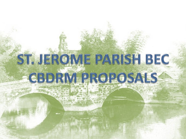 St. jerome parish bec cbdrm proposals