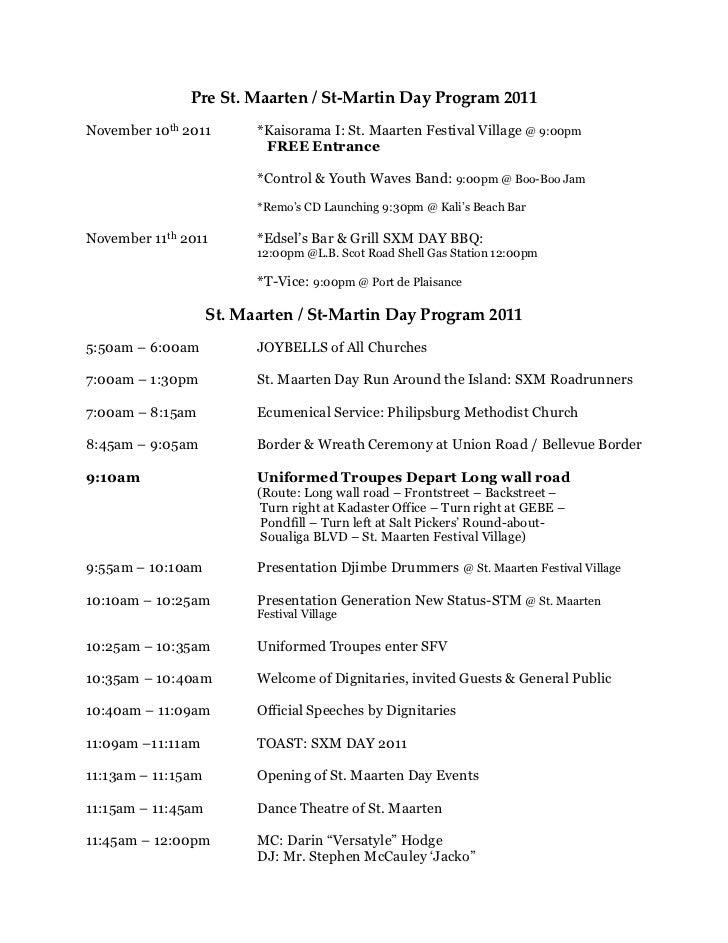 St.maarten's day program 2011