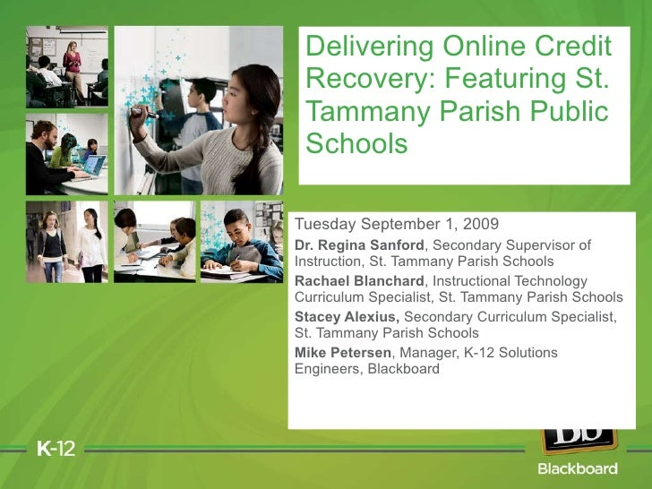 Tuesday September 1, 2009 Dr. Regina Sanford ,   Secondary Supervisor of Instruction, St. Tammany Parish Schools Rachael B...