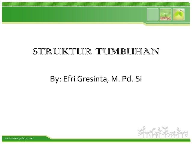STRUKTUR TUMBUHAN By: Efri Gresinta, M. Pd. Si  www.themegallery.com