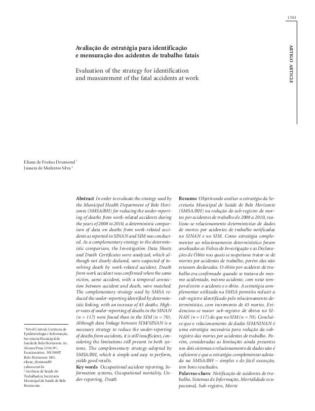 1361  Evaluation of the strategy for identification and measurement of the fatal accidents at work  Eliane de Freitas Drum...