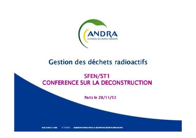 Gestion des déchets radioactifsGestion des déchets radioactifsGestion des déchets radioactifsGestion des déchets radioacti...